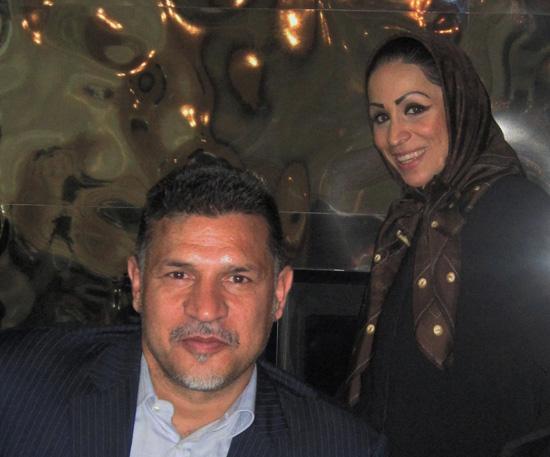 Ali Daei und Samira Samii