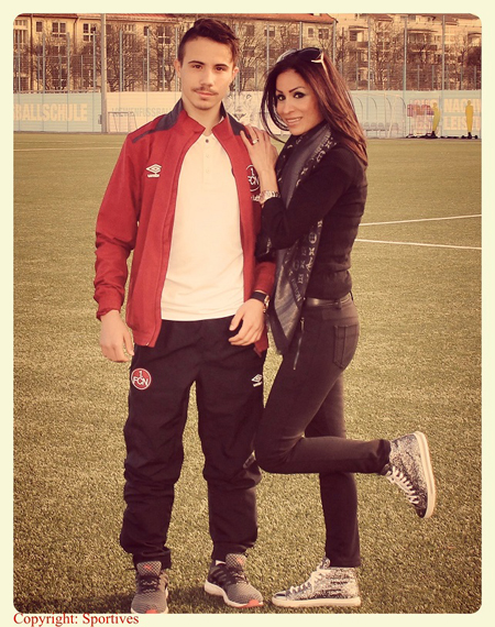 Sportmanagerin & Rund-Kolumnistin Samira Samii und 1. FCN Nachwuchst Talent Alessio Cocco