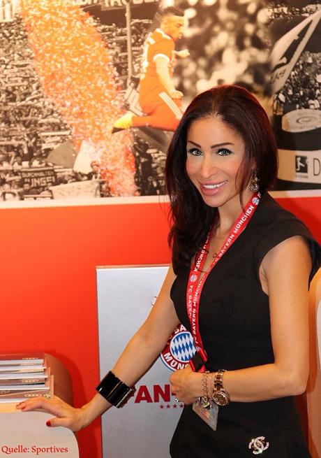 Sport-Managerin & Rund Kolumnistin Samira Samii in der Allianz Arena