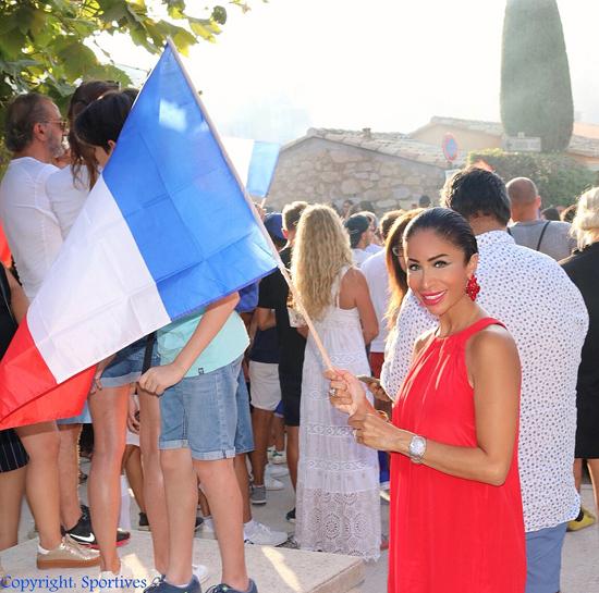 Samira Samii in Saint Tropez